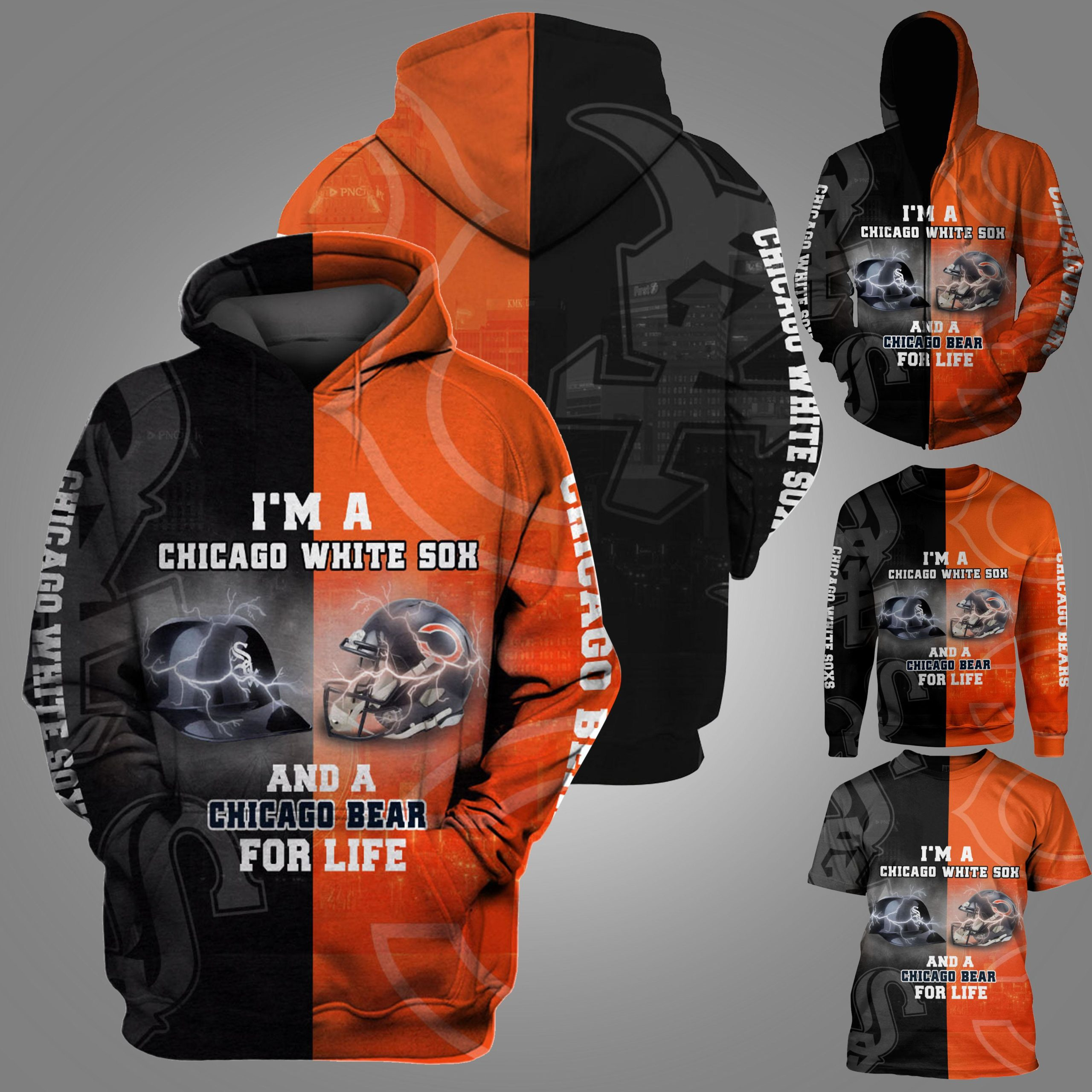 'm a chicago white sox and a chicago bears for life 3d hoodie - maria