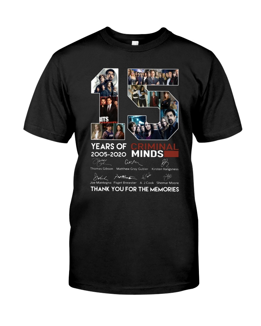 15 Years Of Criminal Minds Thank You For Memories shirt
