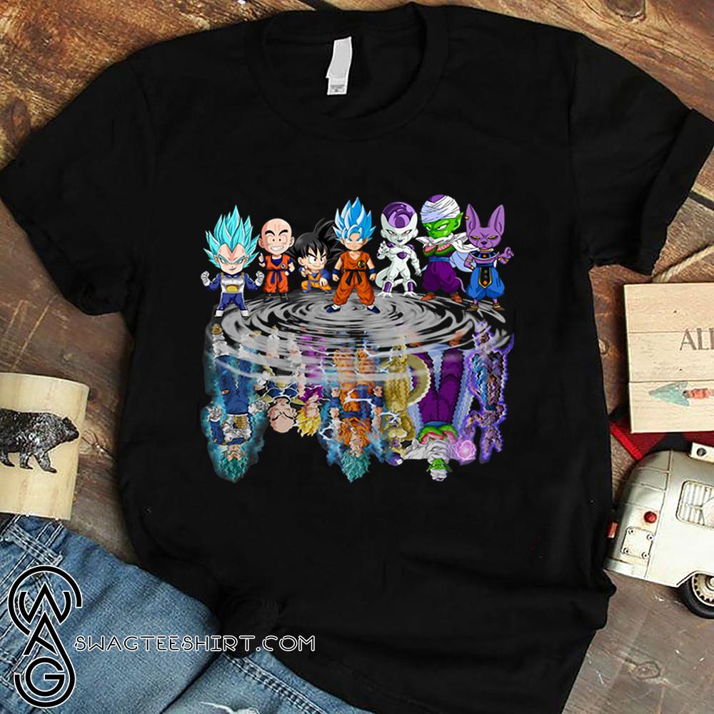 Dragon ball characters water reflection shirt - maria