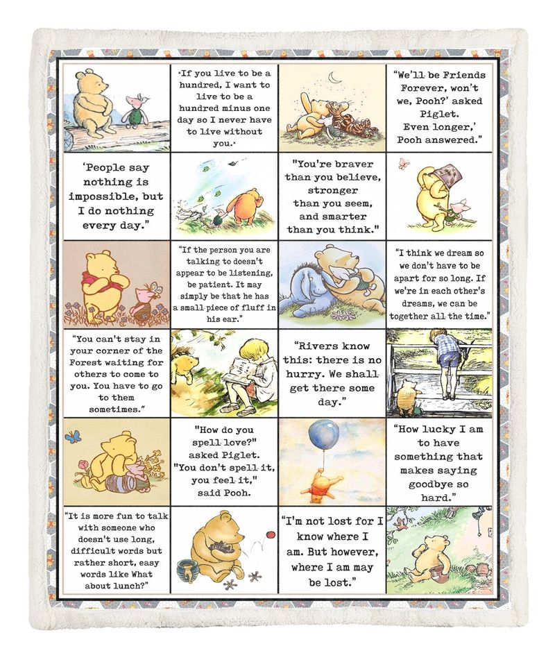 All favourite quote winnie the pooh blanket - maria