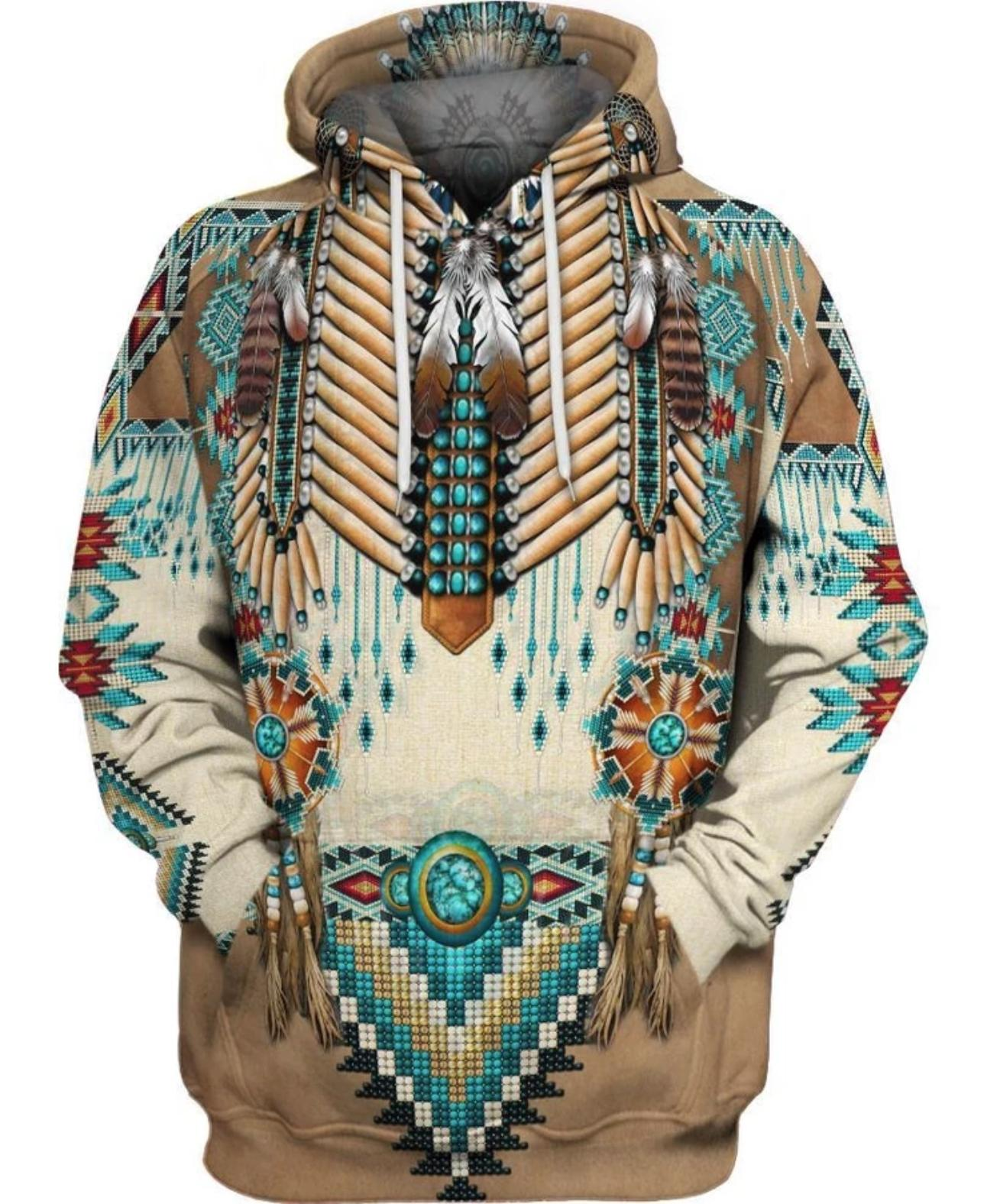 Apache warrior native american all over print hoodie - maria