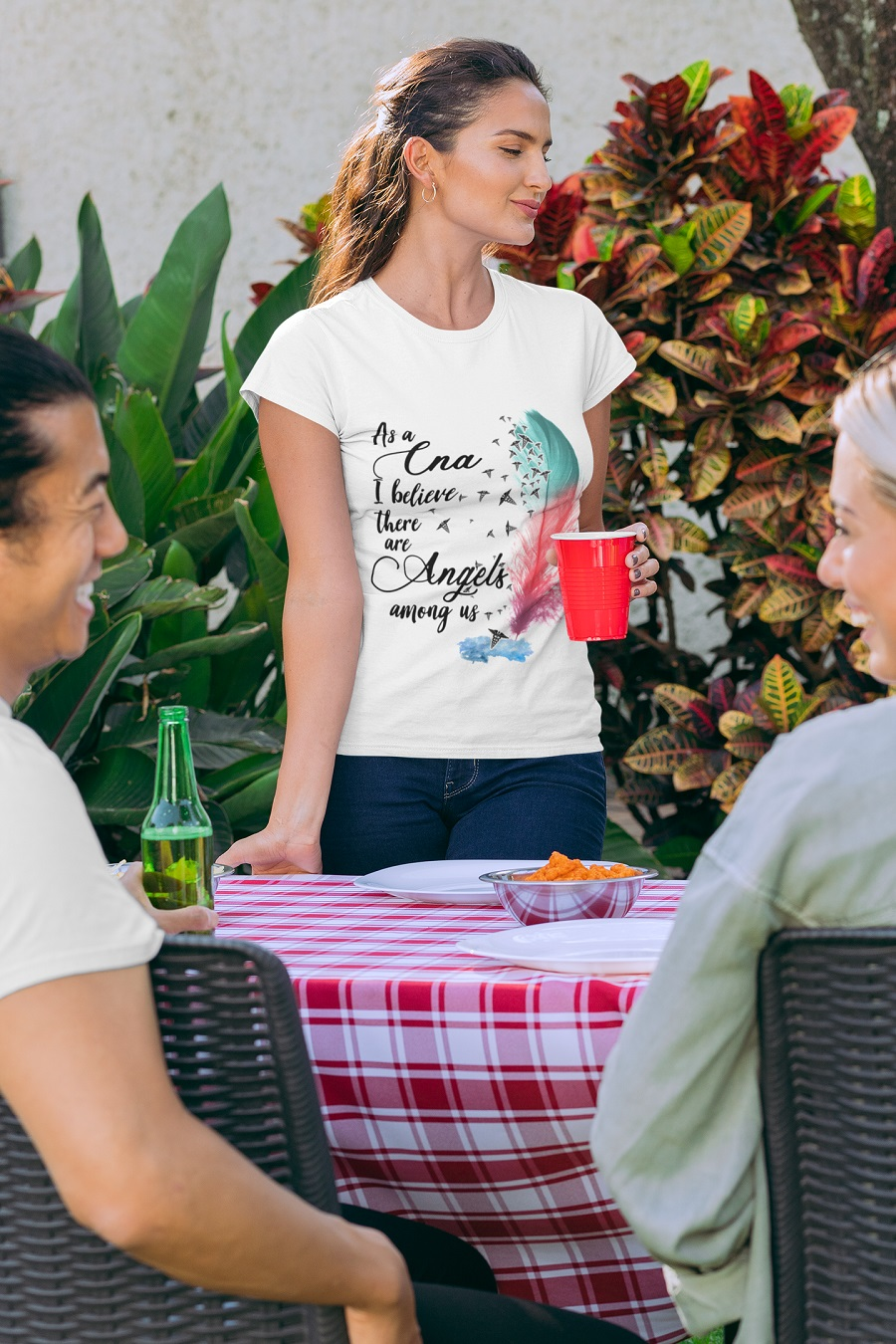 As a cna i believe there are angels among us t-shirt