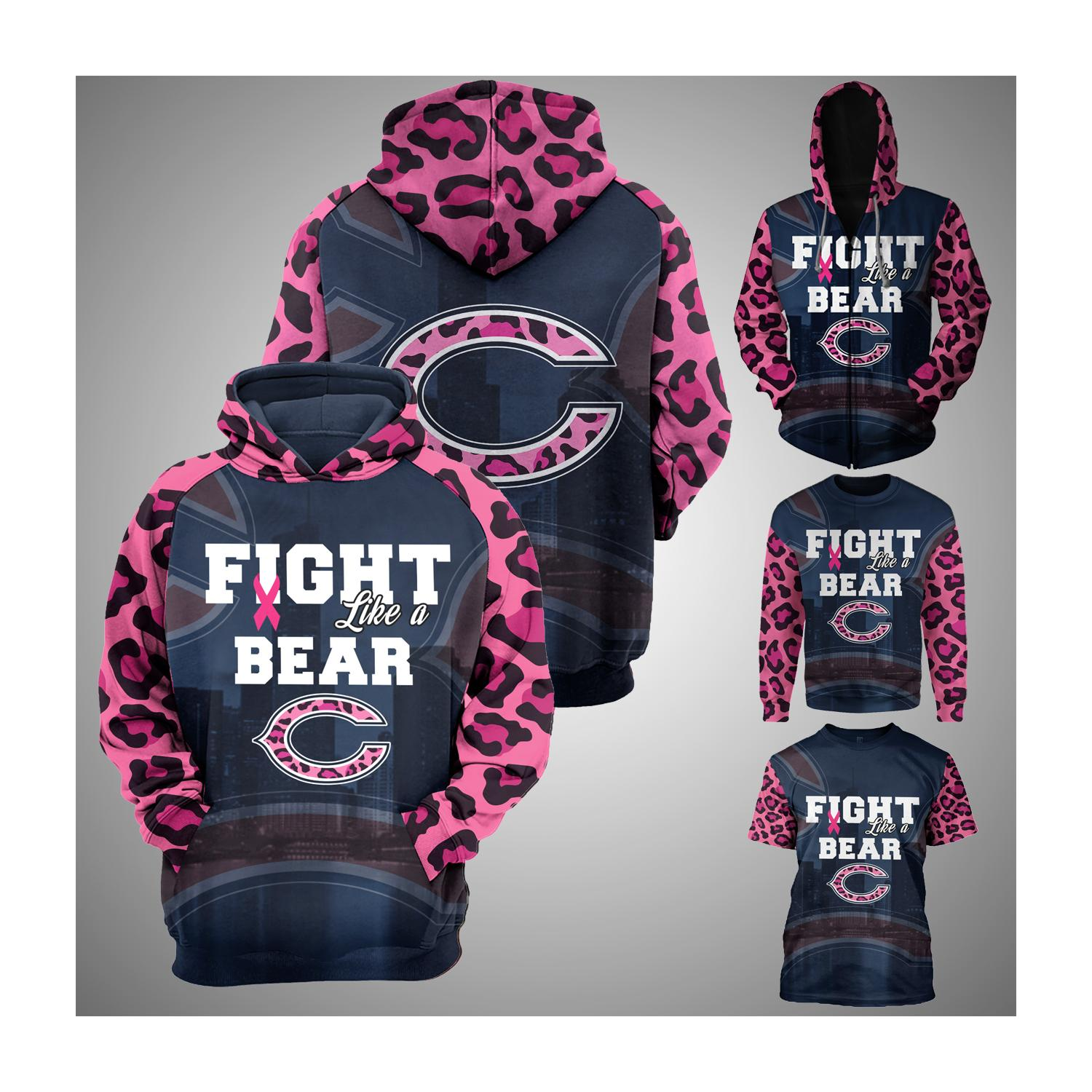 Breast cancer fight like a chicago bears 3d hoodie - maria