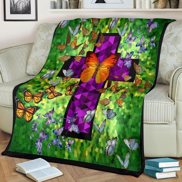 Butterflies in heaven fleece blanket - maria