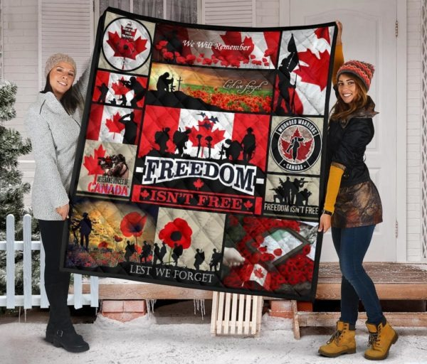 Canada Veterans Freedom Isn't Free Premium Quilt - LIMITED EDITION BBS