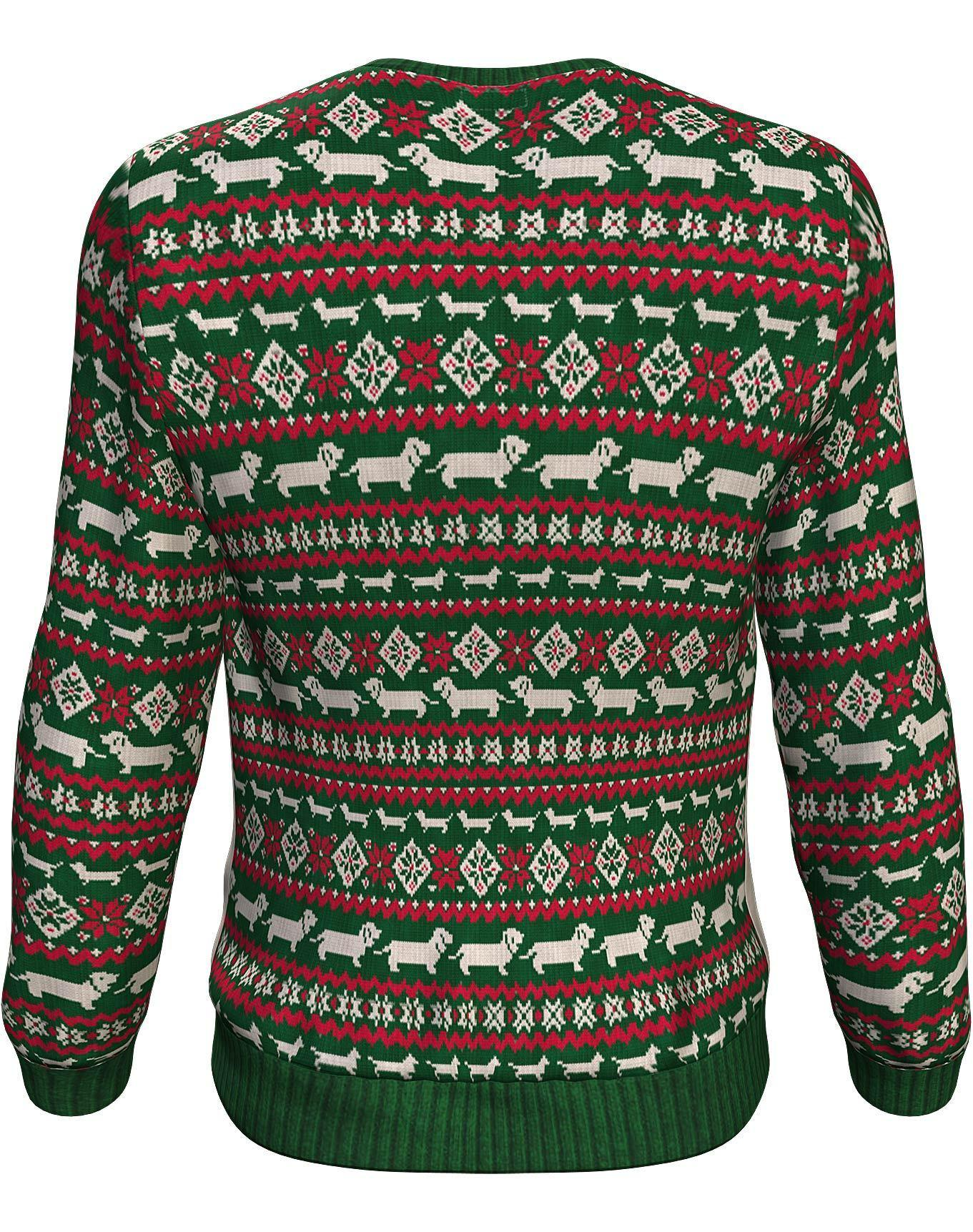 Christmas dachshund through the snow all over print sweater - maria 2