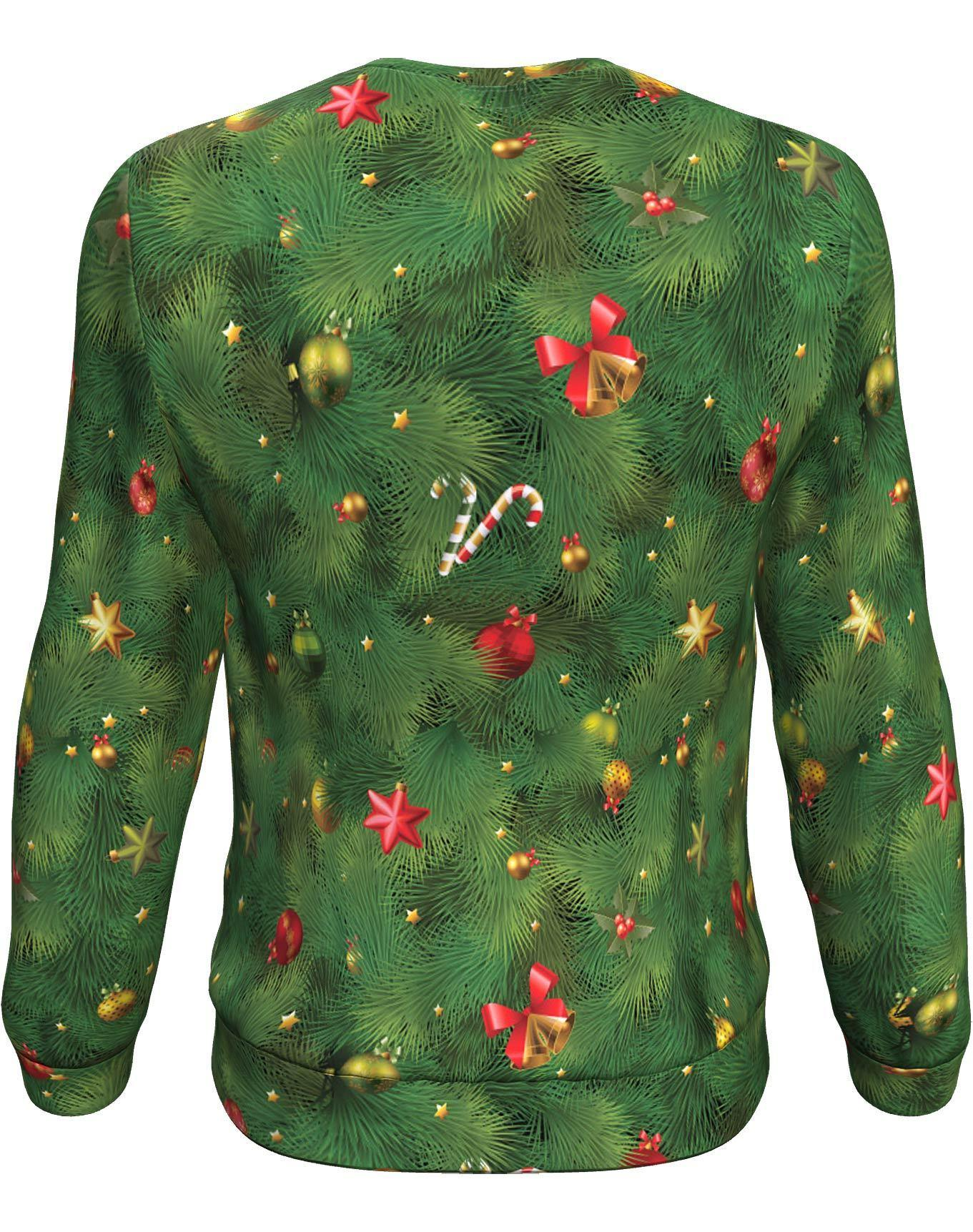 Christmas tree all over print sweater - maria 1