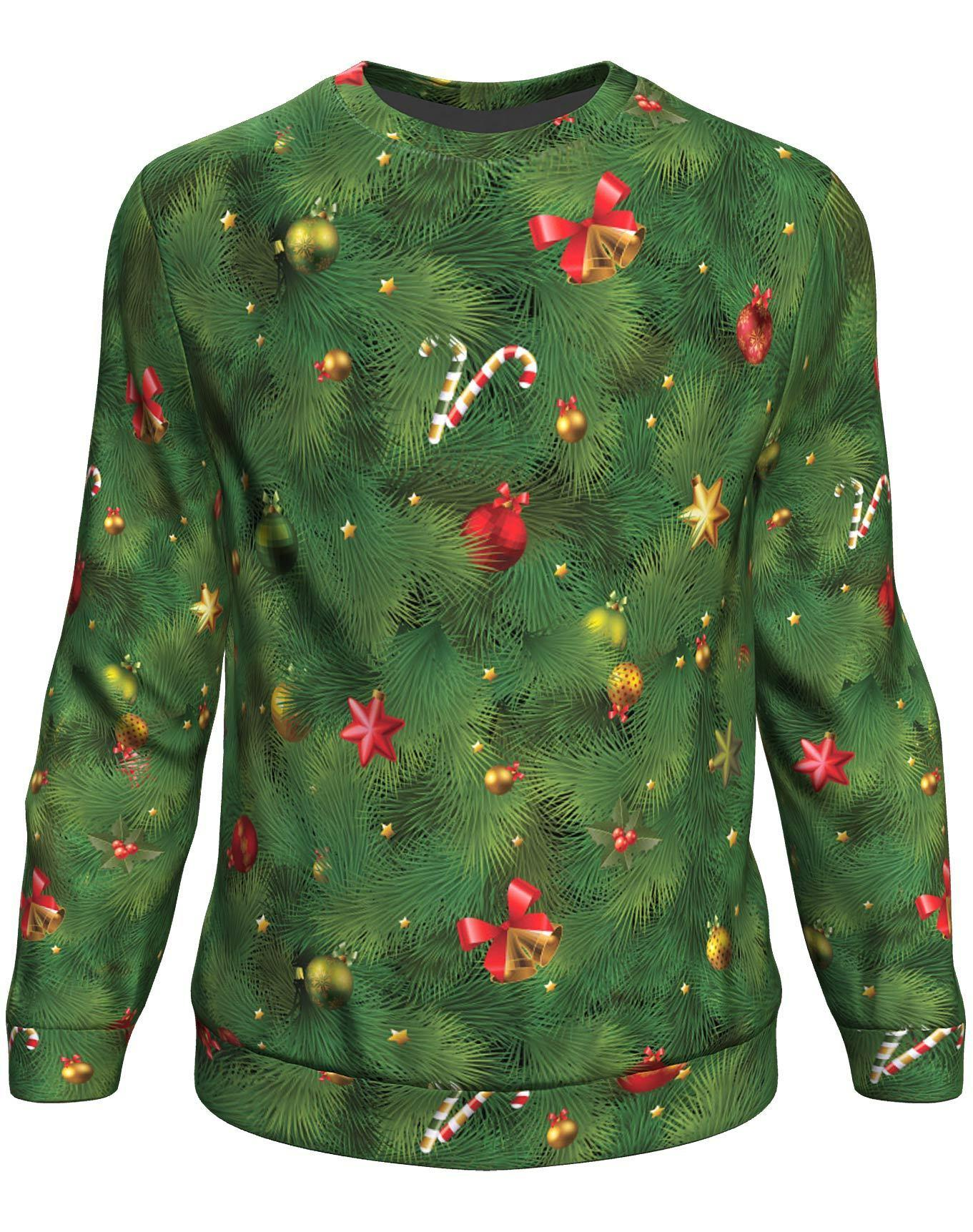 Christmas tree all over print sweater - maria