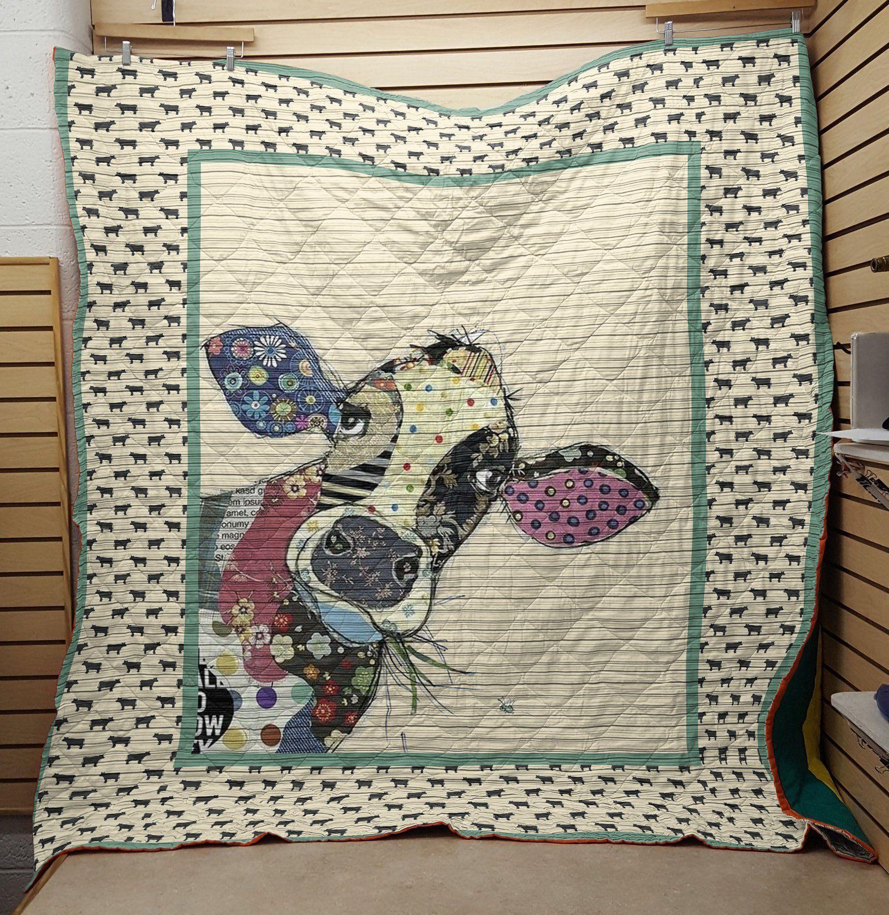 Cow fabric blanket - maria