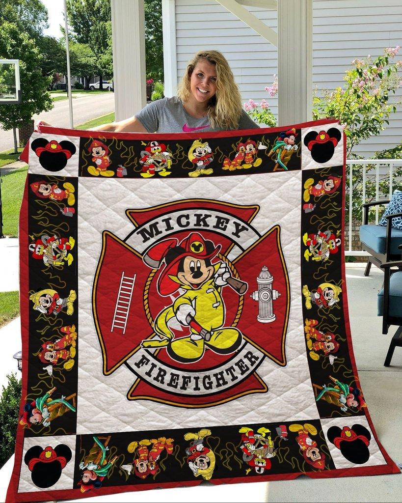 Disney mickey mouse firefighter quilt - maria