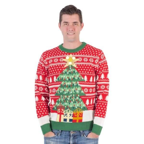Fidget spinner star christmas tree ugly christmas sweater - 1