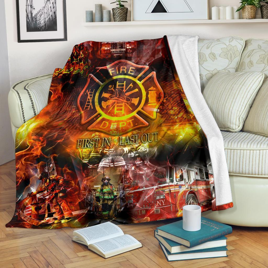 First in last out firefighter blanket 1 - mari