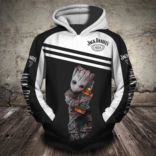 Groot Jack Daniels 3d hoodie - LIMITED EDITION BBS
