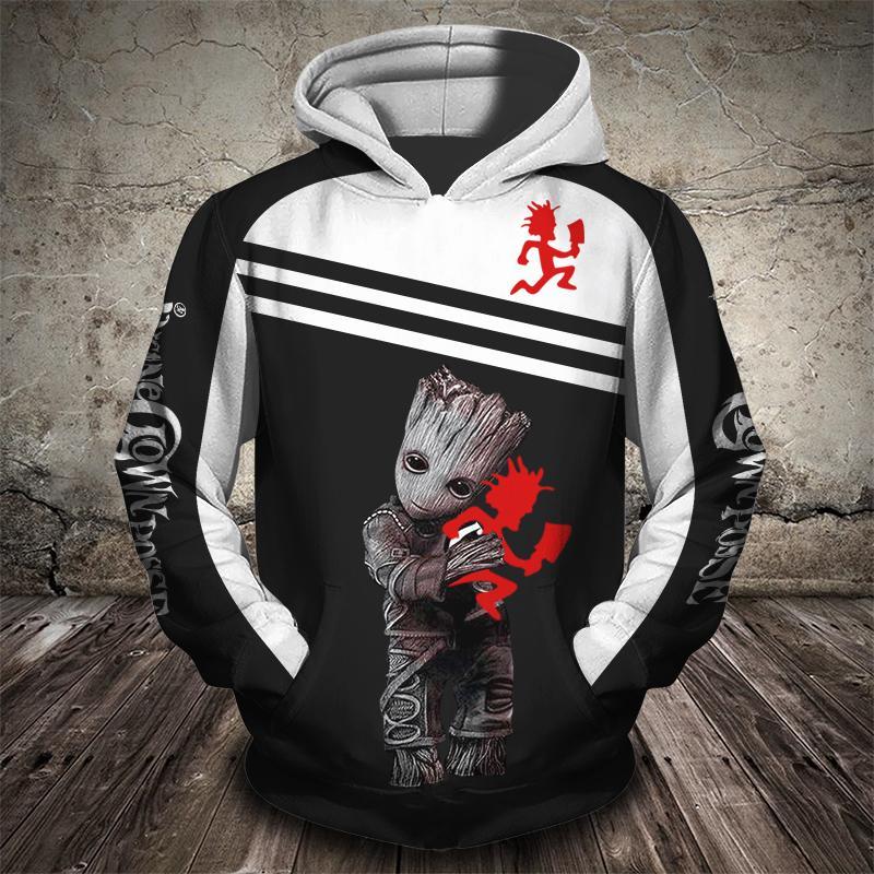Groot insane clown posse 3d hoodie - maria