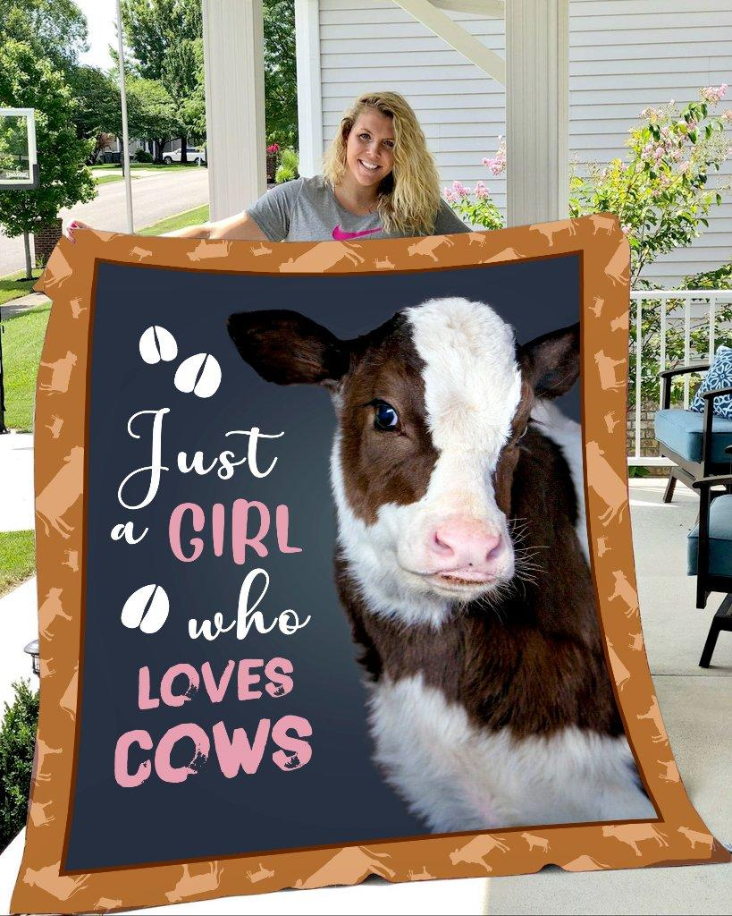 Heifer just girl who loves cows blanket 3 - maria