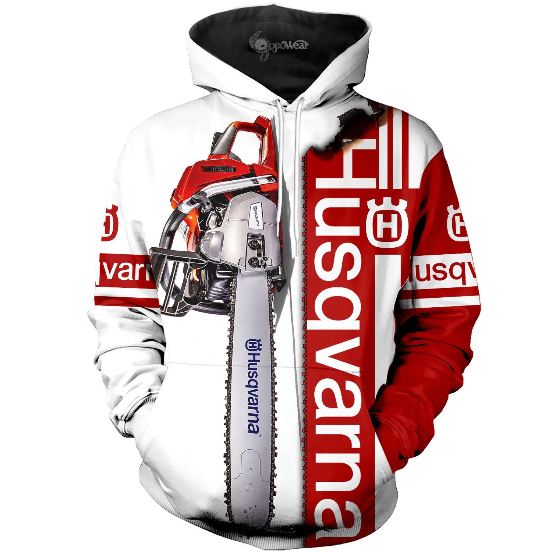 Husqvarna chainsaw 3d hoodie