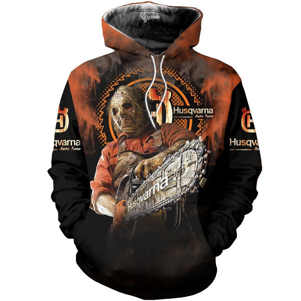 Husqvarna halloween 3d all over printed hoodie - maria
