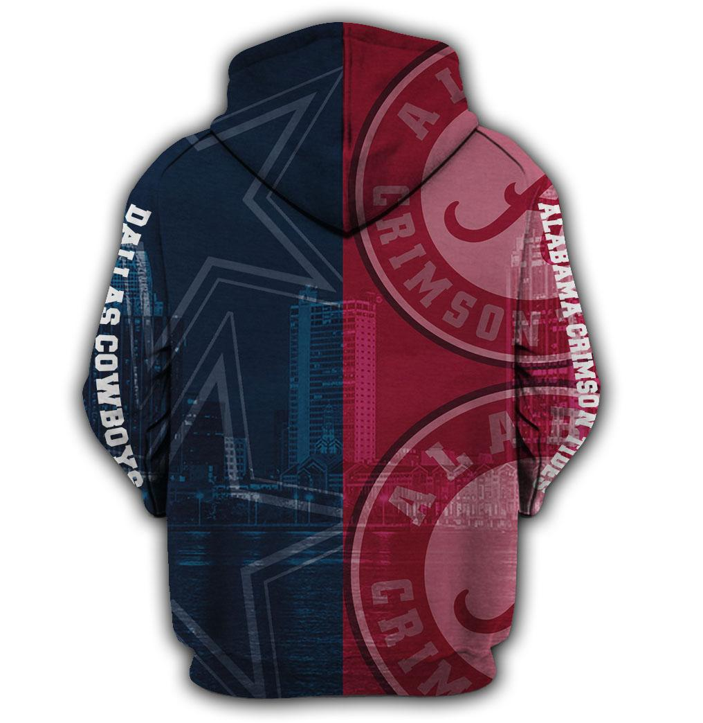 I'm an alabama crimson tide on saturdays and a dallas cowboys on sundays 3d hoodie - maria