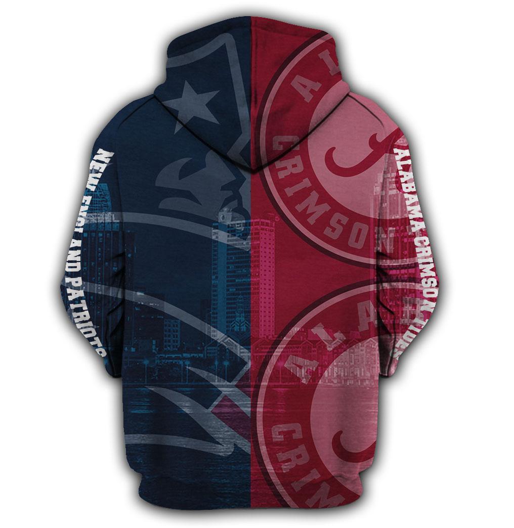 I'm an alabama crimson tide on saturdays and a new england patriots on sundays 3d hoodie - maria