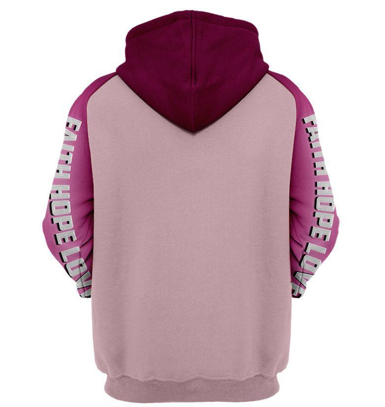 I wear pink for me breast cancer awareness 3d hoodie 1- maria