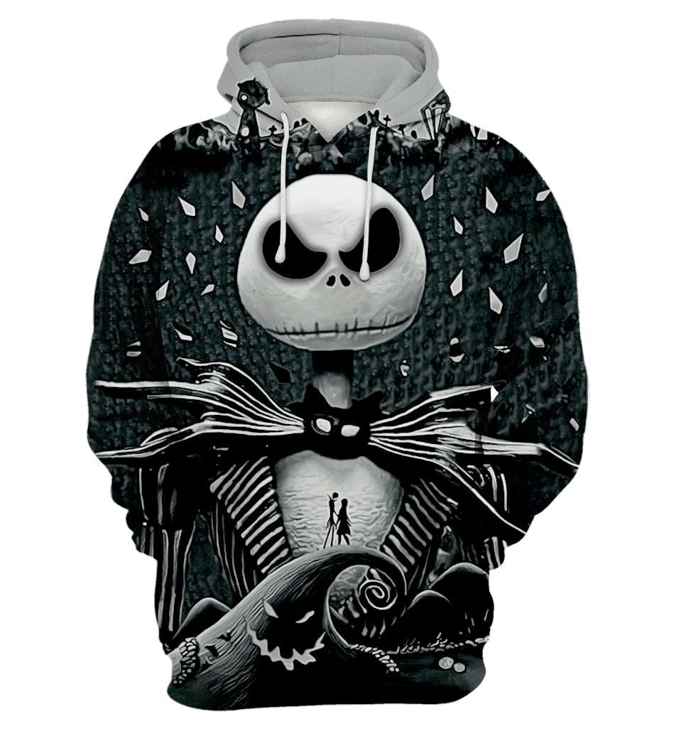 Jack skellington 3d printed designer hoodie - maria