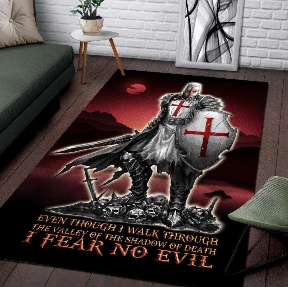 Knights templar 3d full printing area rug - maria
