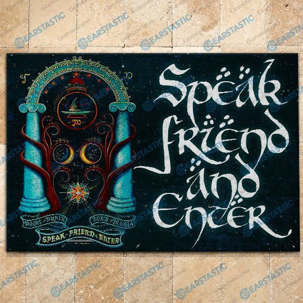 LOTR speak friend and enter doormat - maria