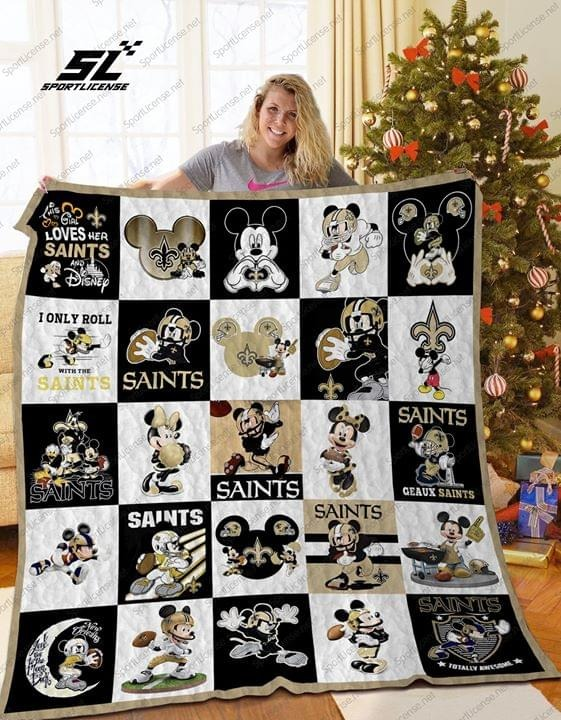 ickey Mouse this girl loves her NOS quilt blanket - BBS