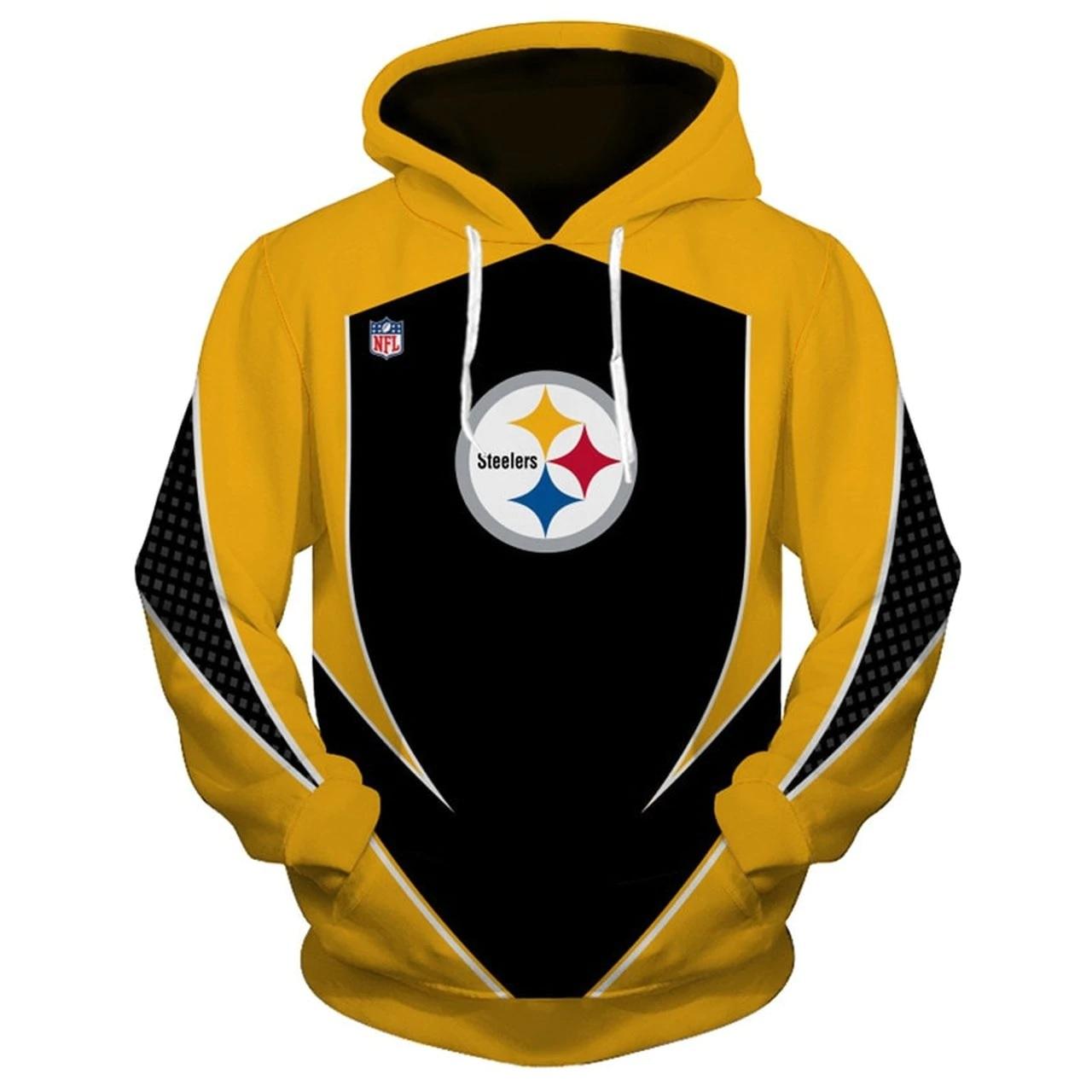 NFL pittsburgh steelers all over print hoodie