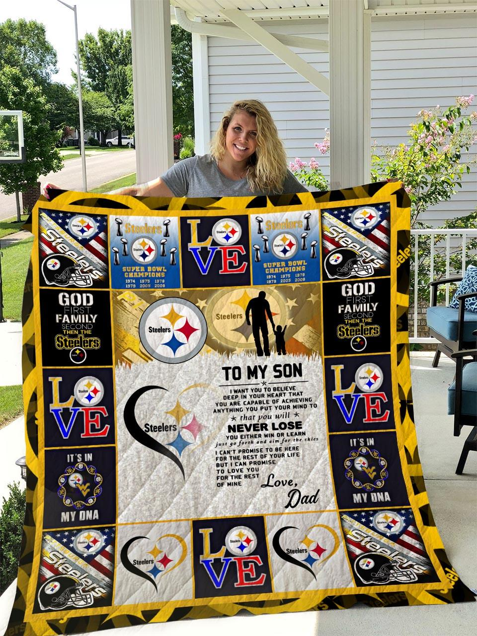 NFL pittsburgh steelers to my son quilt - maria