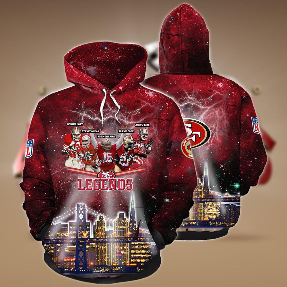 NFL san francisco 49ers legends 3d hoodie - maria