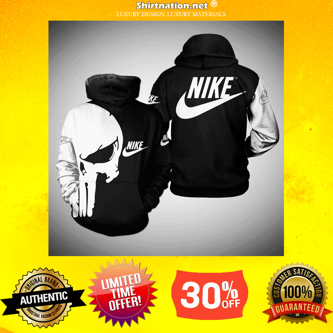Nike Punisher skull 3d hoodie