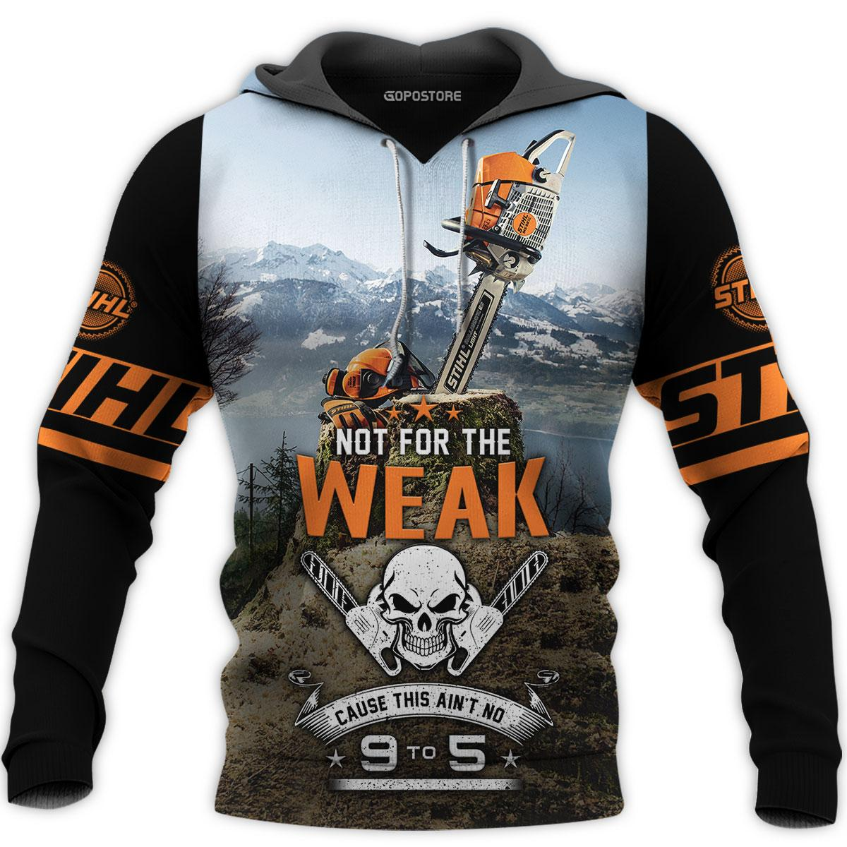 Not for the weak cause this ain't no chainsaw art 3d all over printed hoodie- maria
