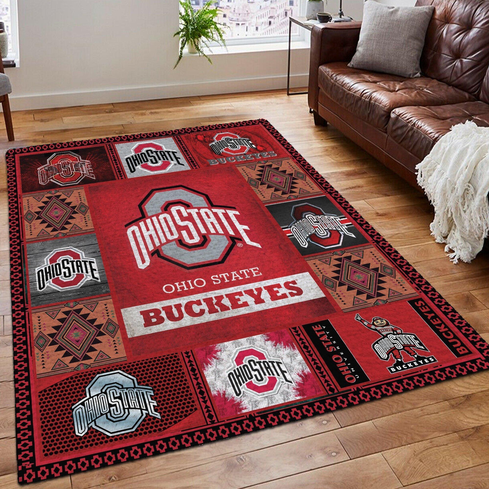 Ohio state buckeyes living room rug 1- maria