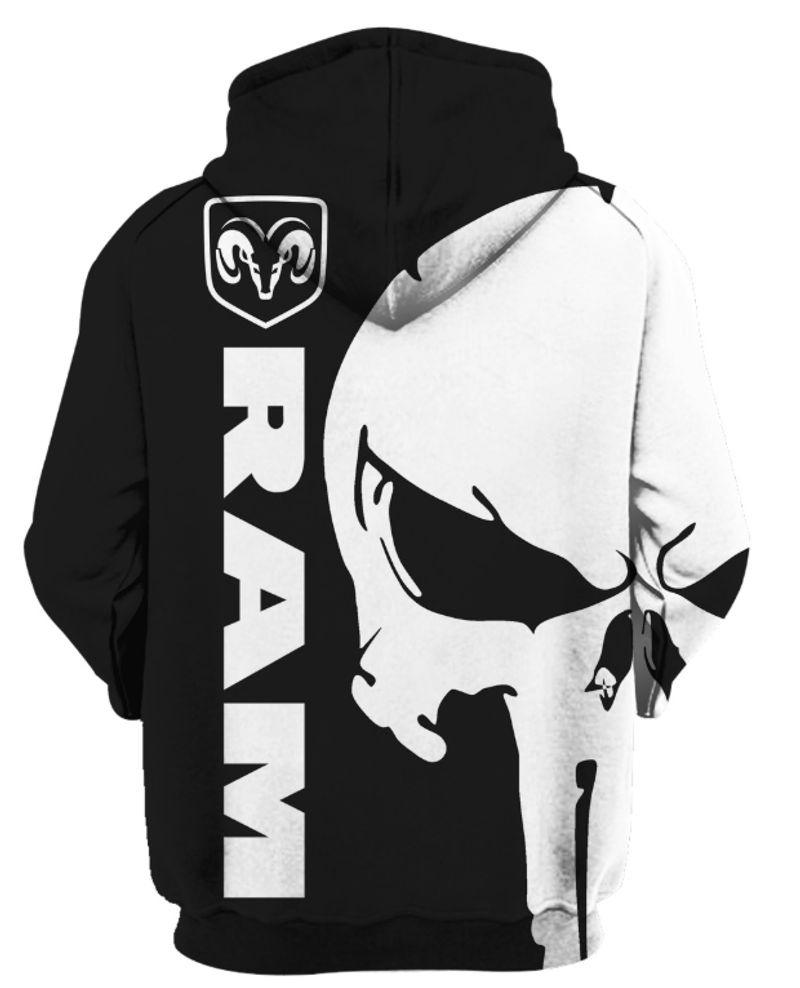 Punisher skull Ram 3d hoodies