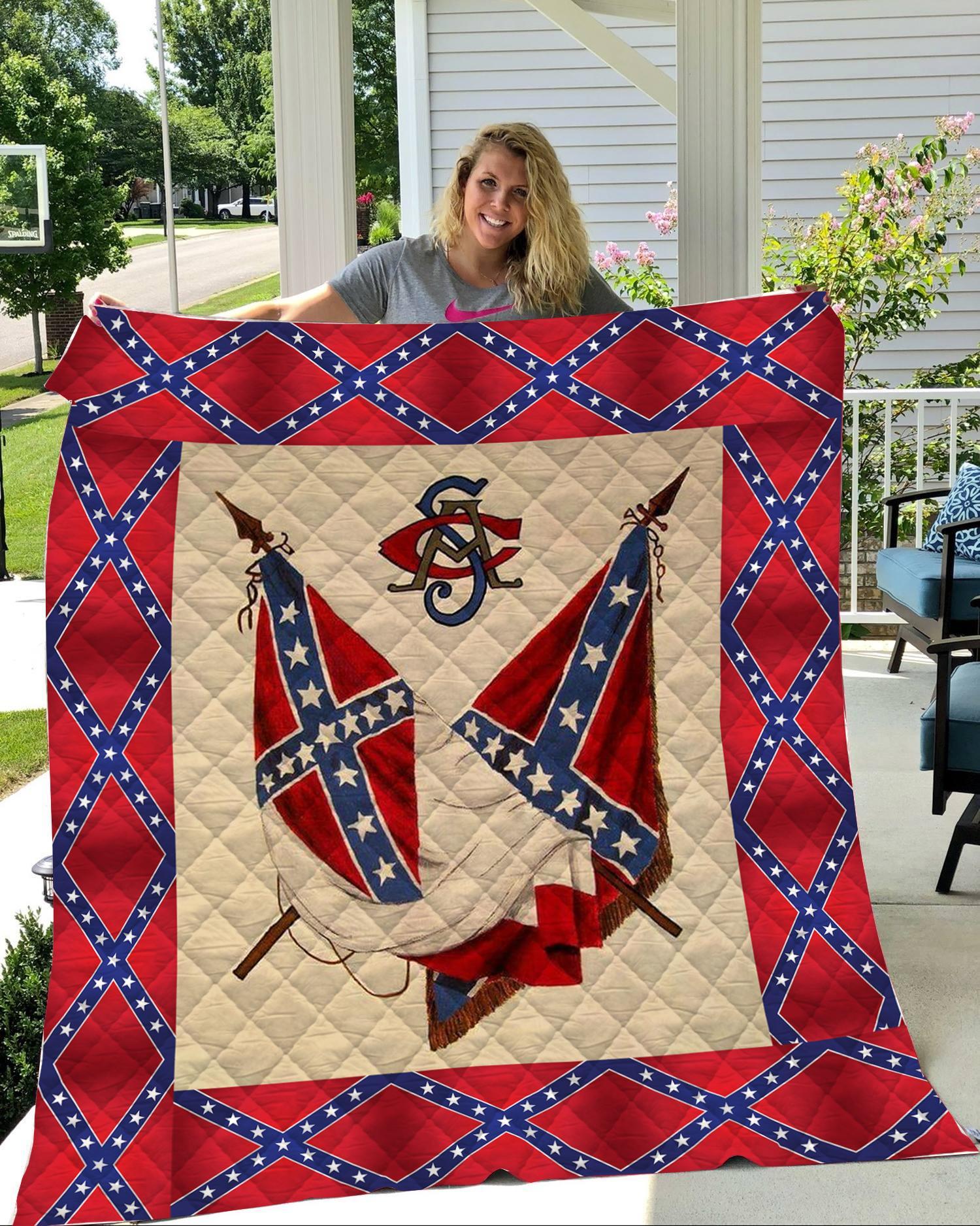 Redneck confederate flag 3d blanket 2- maria