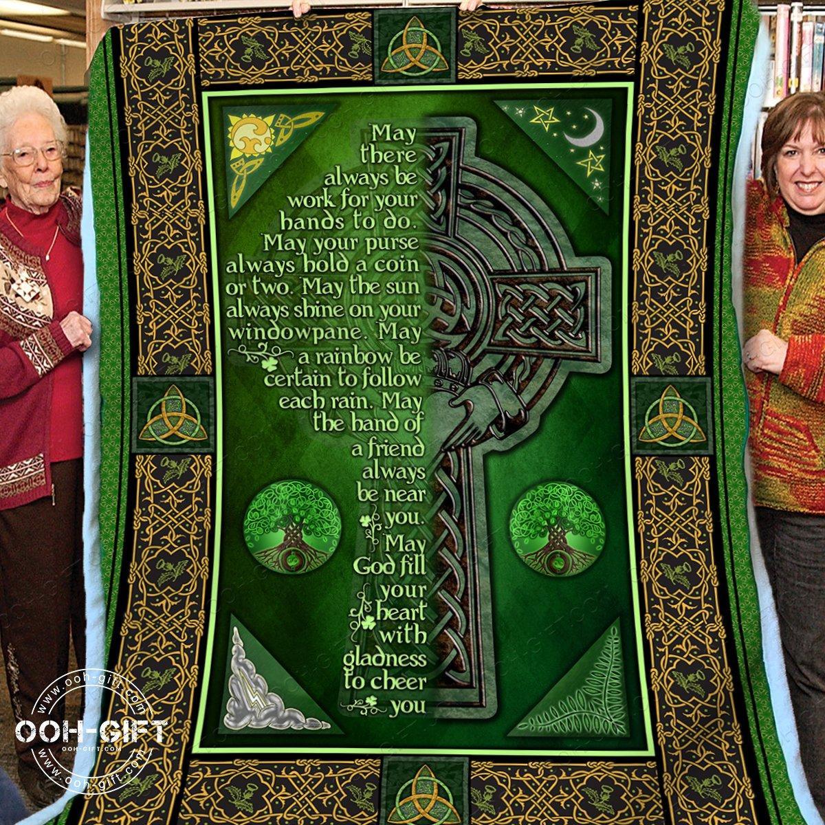 Religion an irish blessing blanket - maria