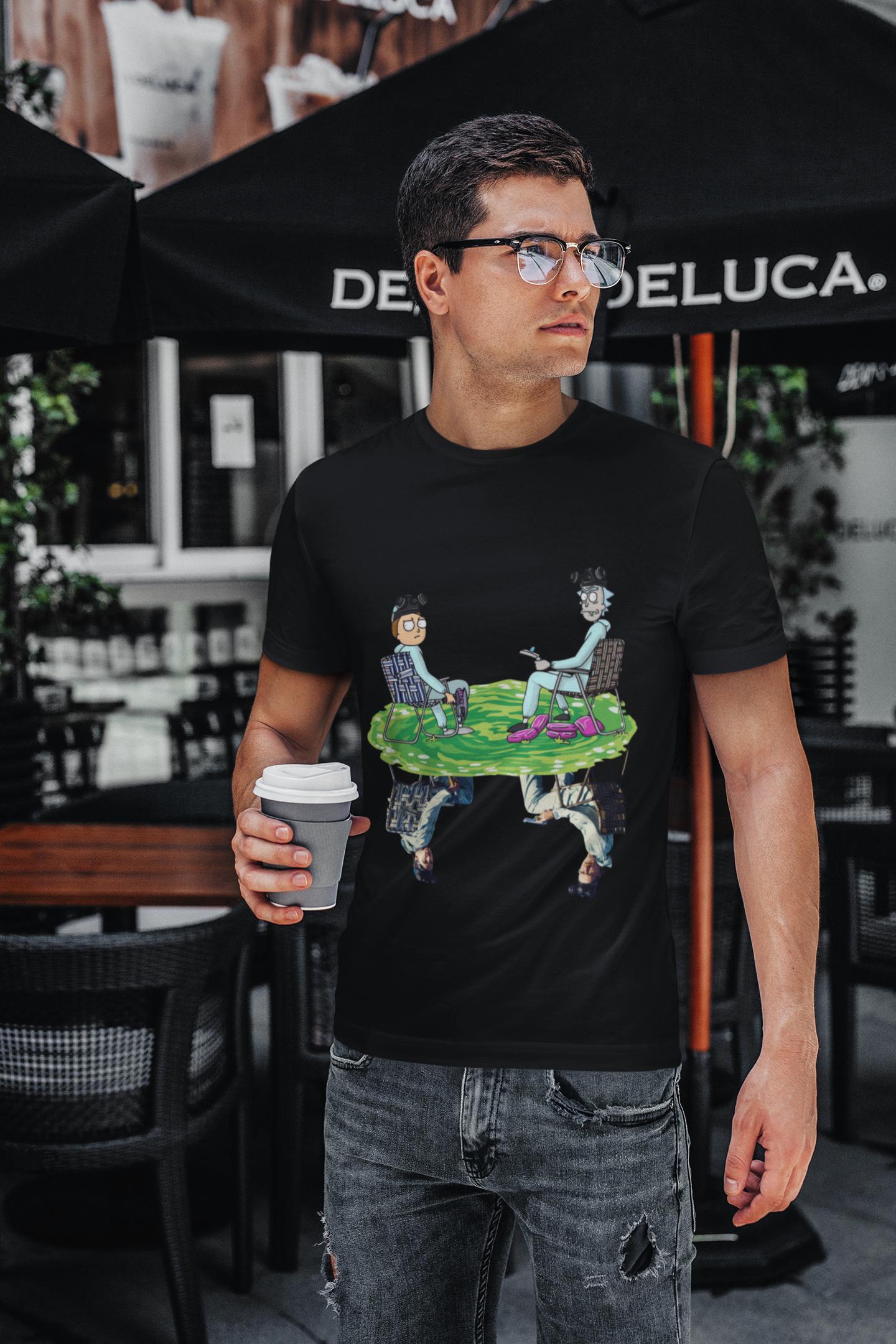 Rick and Morty water reflection Jesse Pinkman and Mr White shirt