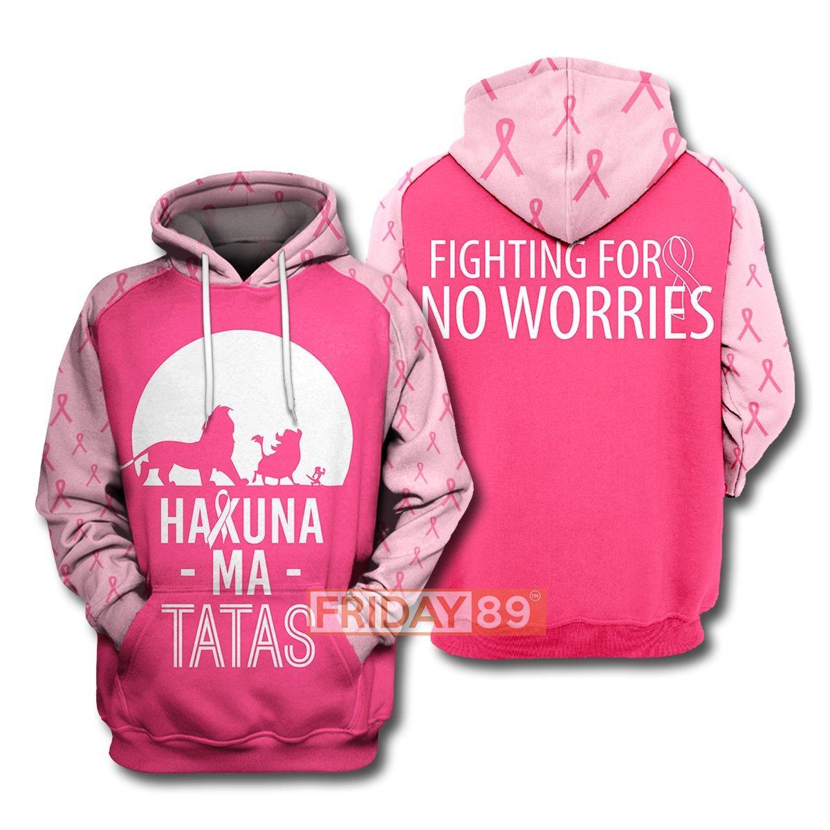 The lion king hakuna ma tatas breast cancer awareness 3d hoodie