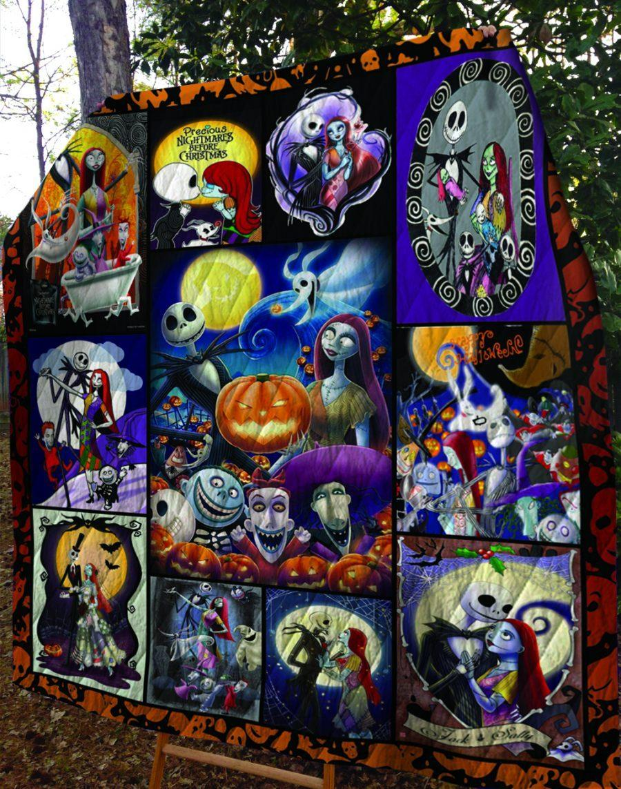 The nightmare before christmas jack and sally quilt - maria