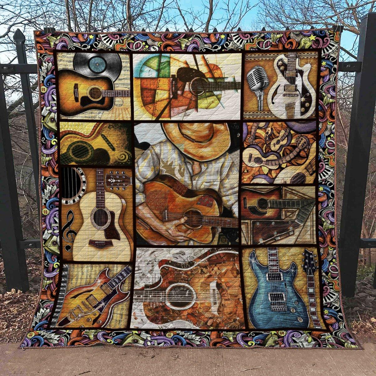 Vintage guitar blanket - maria