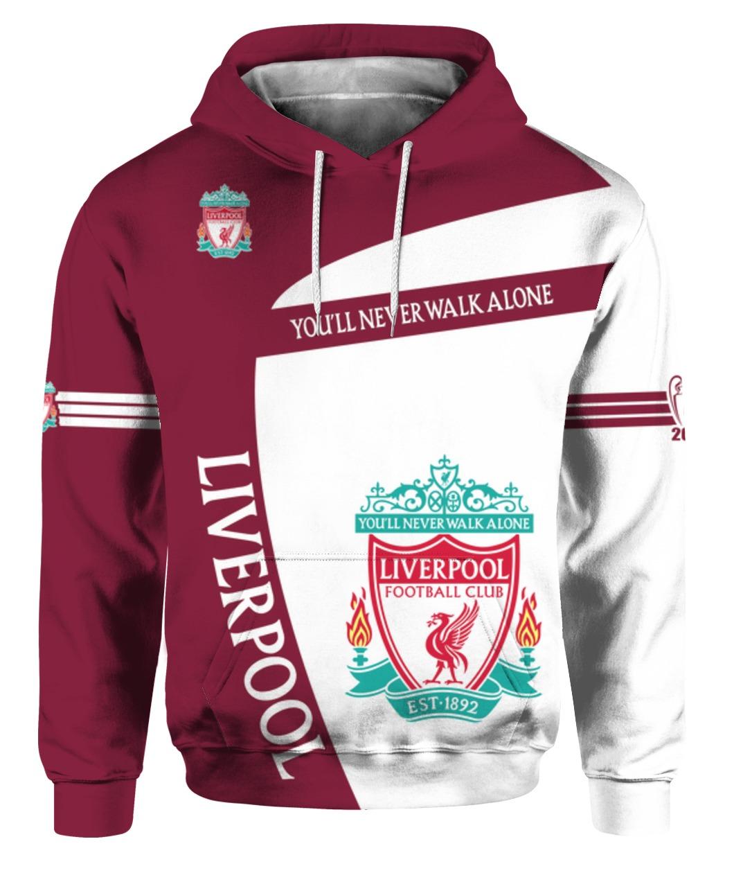 You'll never walk alone liverpool football club all over print shirt - maria
