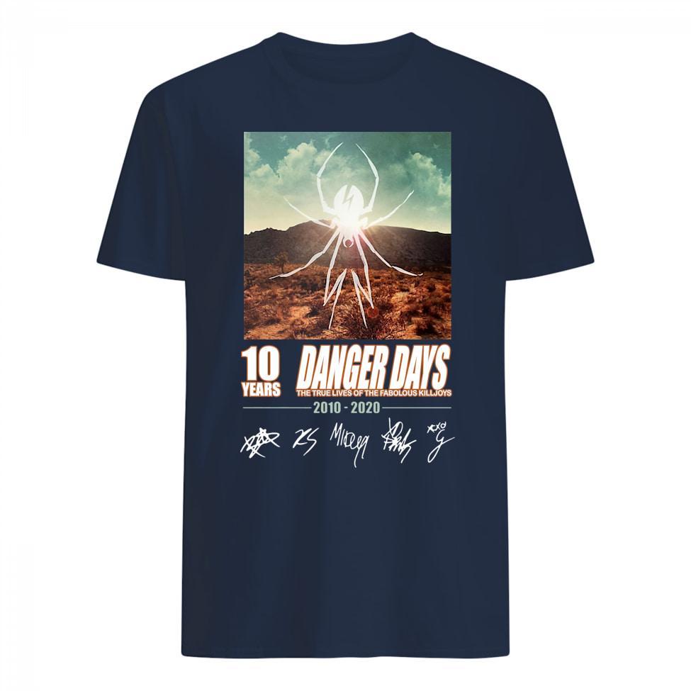 10 Years Danger Days The True Lives Of The Fabolous Killjoys 2010 – 2020 Signature shirt
