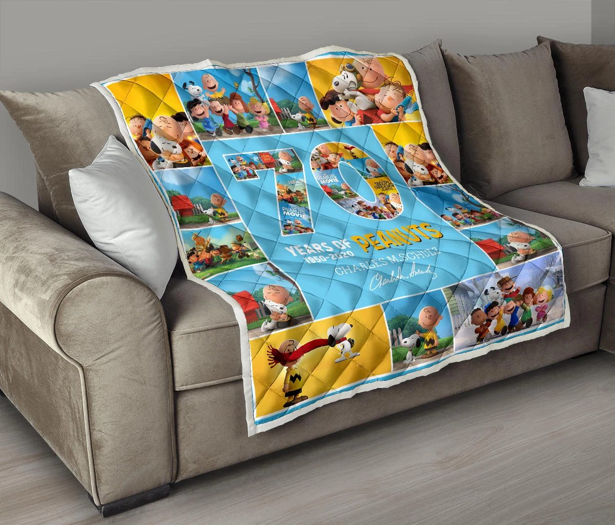 70 years of peanuts charles m schulz quilt - maria