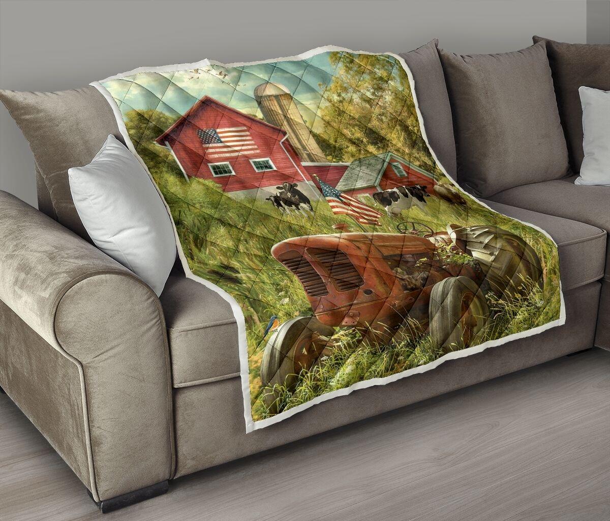 America farmer country life quilt - maria