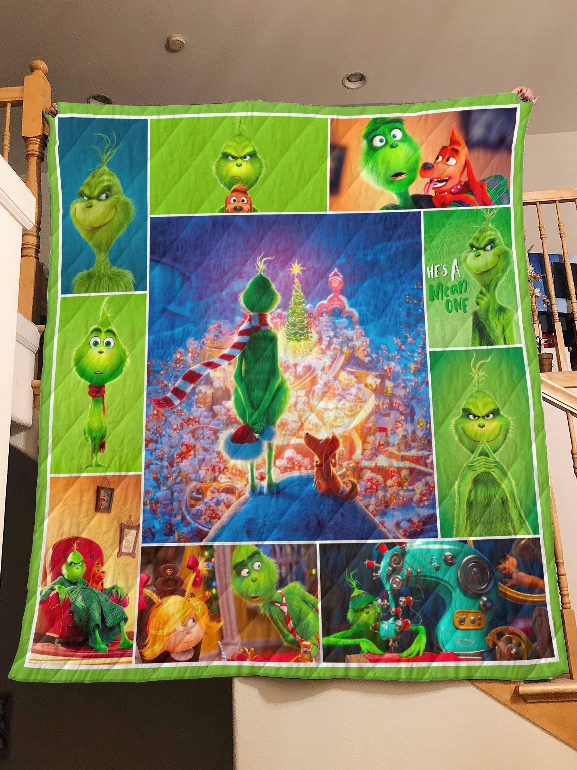Christmas the grinch quilt - maria