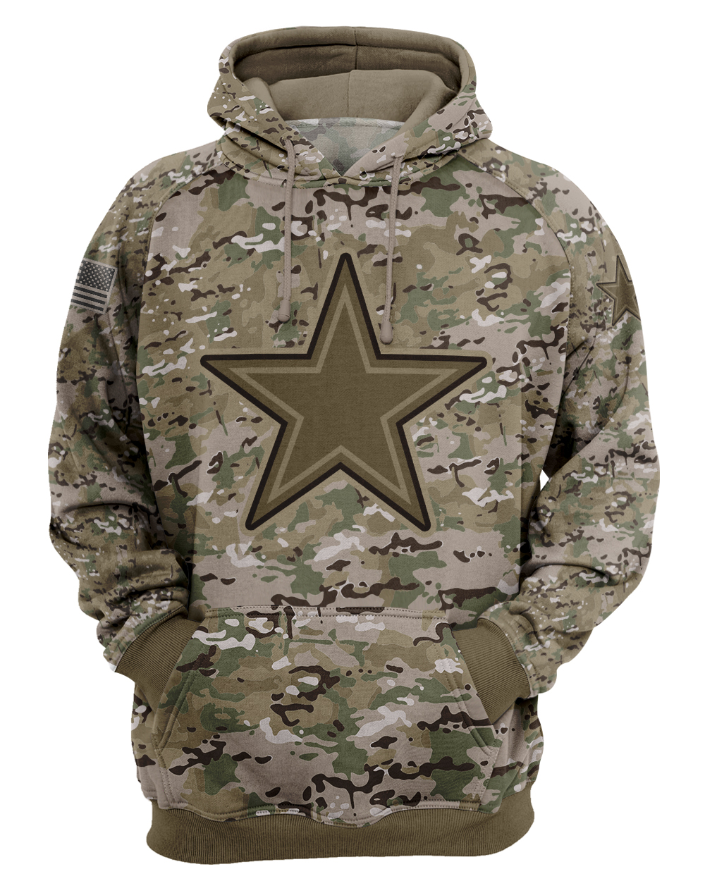 camo style all over print hoodie - maria