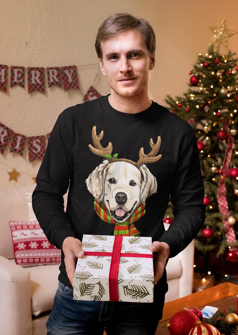 Golden Retriever Dog Merry Christmas Reindeer shirt, hoodie, tank top - tml