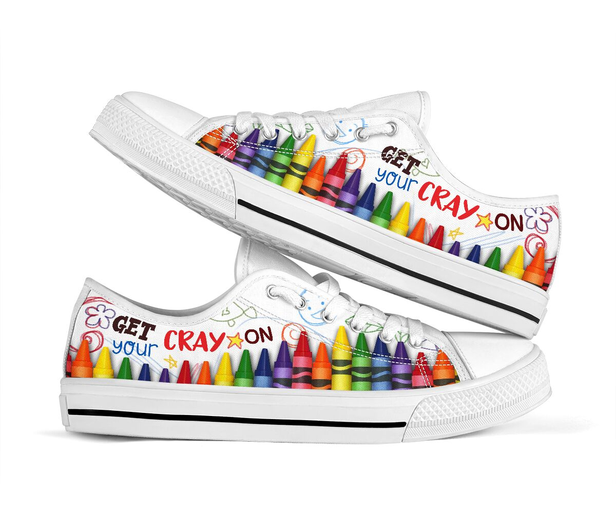 Get your cray on low top sneakers - maria