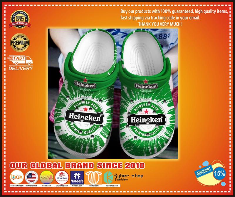 Heineken crocband croc shoes - LIMITED EDITION